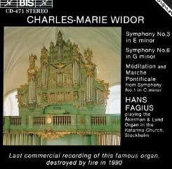 Hans Fagius - Widor: Organ Symphonies 1, 3 & 6 mp3 download