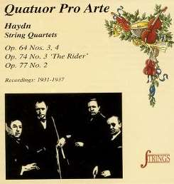 Pro Arte String Quartet - Haydn: String Quartets, Op. 64 Nos. 3, 4, Op. 74 No. 3 'The Rider', Op. 77 No. 2 mp3 download